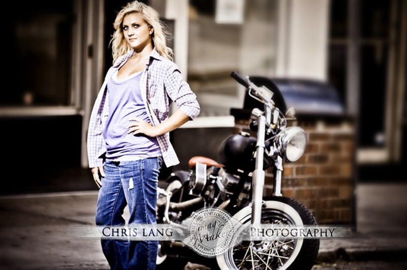 Picture of girl with motorcyle. Lifestyle Photography